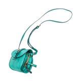 O saco fêmea verde cai no ar Fotos de Stock Royalty Free