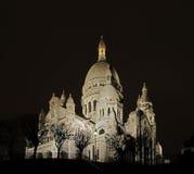 O sacre-coeur em a noite Foto de Stock Royalty Free