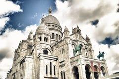 O Sacre-Coeur em Paris, França Foto de Stock