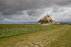 O Saint-Michel do mont, Normandy, France Imagem de Stock