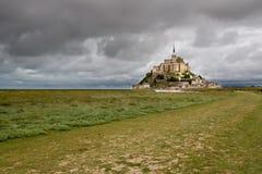 O Saint-Michel do mont, Normandy, France imagem de stock