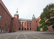 O salão de cidade famoso de Éstocolmo foto de stock royalty free