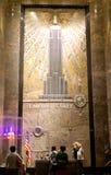 O salão de entrada do Empire State Building Fotos de Stock