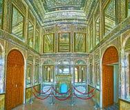 O salão do espelho da casa de Qavam, Shiraz, Irã Foto de Stock