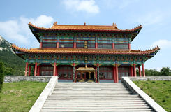 Arquitetura religiosa chinesa Foto de Stock