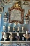 O salão dos filósofos Musei Capitolini imagens de stock