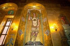 O salão dourado fotografia de stock royalty free