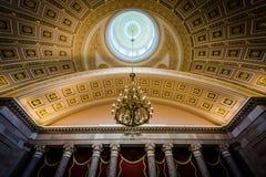 O Salão estatuário nacional, no Capitólio do Estados Unidos, estava dentro foto de stock