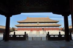 O salão para adorar imperadores e imperatrizes de Qing Imagem de Stock Royalty Free