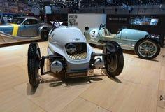 88.o salón del automóvil internacional 2018 de Ginebra - Morgan EV3 Imagen de archivo libre de regalías