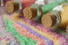 O sal flavored para um banheiro Fotografia de Stock