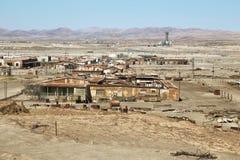 O salitre histórico de Humberstone trabalha no deserto de Atacama imagens de stock royalty free