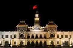O salão de cidade de Ho Chi Minh Vietnam Fotografia de Stock Royalty Free