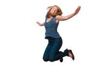 O salto da mulher imagem de stock royalty free