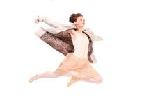 O salto da mulher Fotografia de Stock