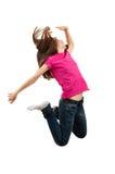O salto da rapariga imagens de stock