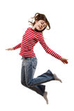 O salto da rapariga foto de stock