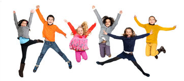 O salto das crianças imagem de stock royalty free