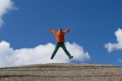O salto das mulheres Fotos de Stock Royalty Free