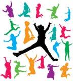 O salto das mulheres Foto de Stock