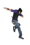 O salto do dançarino foto de stock royalty free