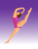 O salto do Gymnast ilustração royalty free