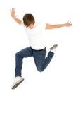 O salto do homem fotografia de stock