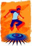 O salto do homem Imagens de Stock Royalty Free