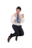 O salto do homem de negócios Fotografia de Stock Royalty Free