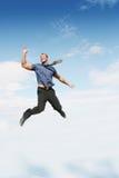 O salto do homem de negócios foto de stock