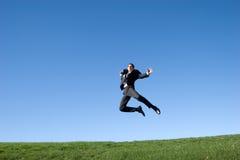 O salto do homem de negócios imagem de stock royalty free