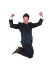 O salto do homem de negócios Imagens de Stock Royalty Free
