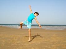 O salto do menino Foto de Stock Royalty Free