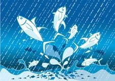 O salto dos peixes ilustração do vetor