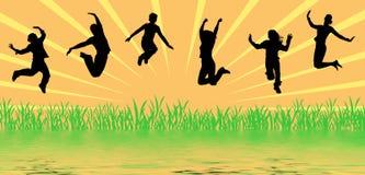 O salto dos povos ilustração royalty free