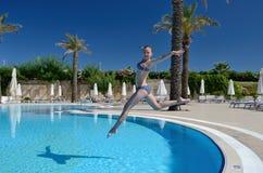 O salto espetacular Fotografia de Stock