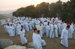 O samaritano Shavuot pray Foto de Stock