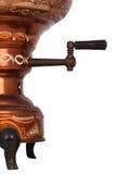 O samovar antigo no fundo branco Imagem de Stock Royalty Free