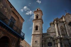 O San famoso Cristobal Cathedral de Havana Fotografia de Stock Royalty Free