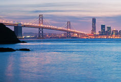 O San Francisco Oakland Bay Bridge Imagens de Stock Royalty Free