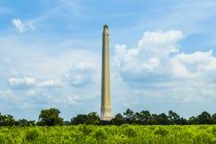 O San Jacinto Monument em um agradável fotografia de stock