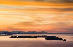 O San Juan Islands fotografia de stock