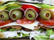O sanduíche final Fotos de Stock