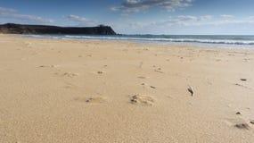 O Sandy Beach do mar Fotos de Stock