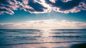O Sandy Beach do mar Fotografia de Stock