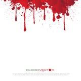 O sangue abstrato chapinha isolado no fundo branco, DES Imagens de Stock Royalty Free