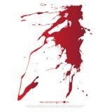 O sangue abstrato chapinha isolado no fundo branco, DES do vetor Foto de Stock Royalty Free