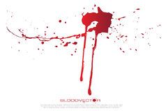 O sangue abstrato salpica o fundo branco, DES do vetor Imagens de Stock