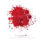 O sangue chapinha isolado no fundo branco, projeto Foto de Stock