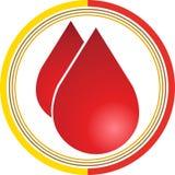 O sangue deixa cair o logotipo Foto de Stock